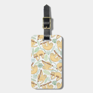 Custom Name Hanging Sloths Luggage Tag
