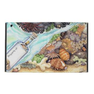 Custom Name-in-a-Bottle Tide Pool iPad Folio Cover