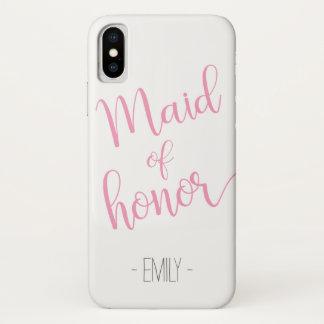 Custom Name iPhone Maid of Honor Case