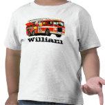 Custom Name Kid's Fire Truck
