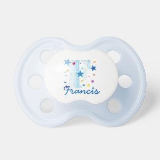 Custom Name Letter F Baby Kids Boys Pacifier