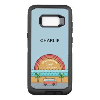 Custom Name & Location Surfer phone cases