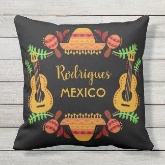 Custom name MEXICO Illustration throw pillows