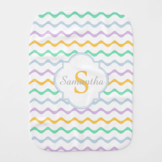 Custom Name / Monogram Baby Girl Burp Cloth