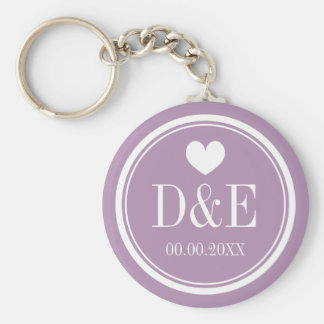 Custom name monogram wedding party favor keychain