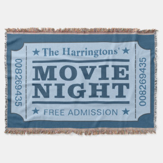 "Custom Name ""Movie Ticket"" throw blanket"