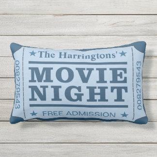 """Custom Name """"Movie Ticket"""" throw pillows"""