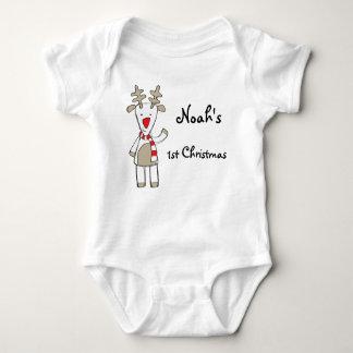 Custom name/my 1st Christmas the reindeer Baby Bodysuit