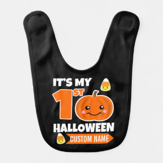Custom Name My First Halloween Baby Bib