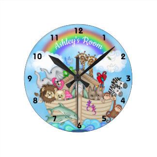 Custom Name Noah's Ark Wall Clock