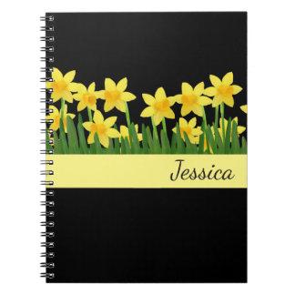 Custom Name Notebook-Daffodils Notebook