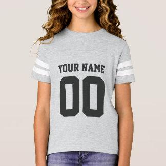 Custom Name Number Girls' Football Jersey Shirt