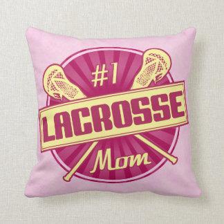 Custom Name & Number Print Lacrosse Mom Pillow