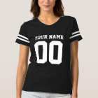 Custom Name Number Women's Football T-Shirt