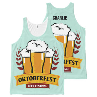 Custom Name Oktoberfest tank top
