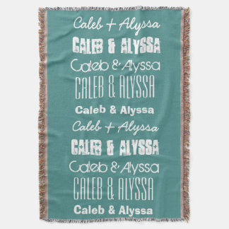 Custom Name or Names or Custom Saying A11A Throw Blanket