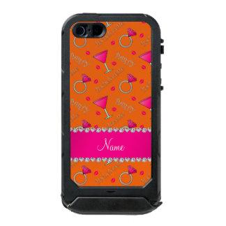 Custom name orange bachelorette cocktails rings incipio ATLAS ID™ iPhone 5 case