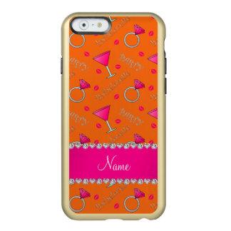 Custom name orange bachelorette cocktails rings incipio feather® shine iPhone 6 case