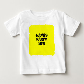 Custom Name. Party 2011. Yellow and Black Baby T-Shirt