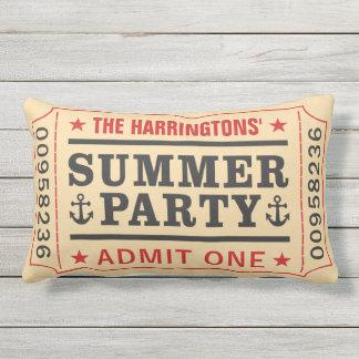 """Custom Name """"Party Ticket"""" throw pillows"""