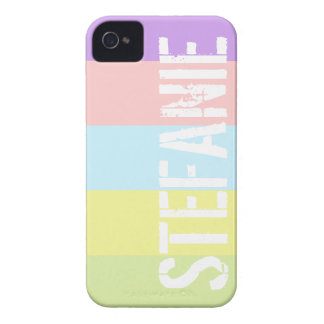 Custom Name Pastel Stripes Case-Mate Case