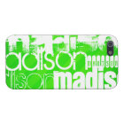 Custom Name Pattern on Neon Green Stripes iPhone 5 Case