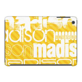 Custom Name Pattern on Yellow Stripes iPad Mini Retina Cases
