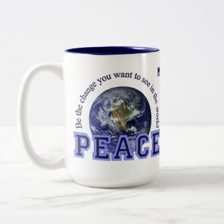 Custom name Peace mugs