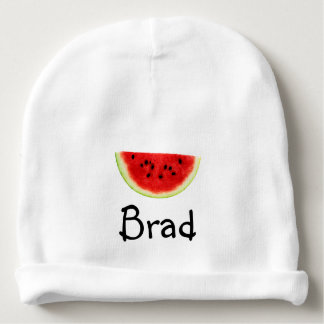 Custom Name / Personalised Watermelon beanie Baby Beanie