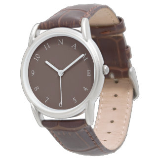 Custom Name Personalized Mens Classic Wrist Watch