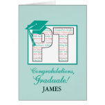 Custom Name Physical Therapy Graduation  Congratul Greeting Card