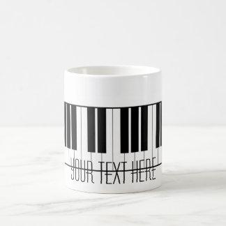 Custom Name Piano Keys Keyboard Teacher Student Basic White Mug