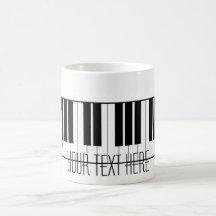 Custom Name Piano Keys Keyboard Teacher Student Coffee Mugs