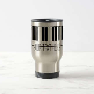 Custom Name Piano Keys Keyboard Teacher Student Travel Mug