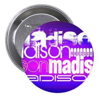 Custom Name; Pink, Violet Blue, Magenta, purple 3 Inch Round Button