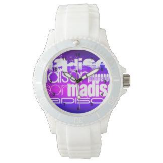 Custom Name; Pink, Violet Blue, Magenta, purple Watch