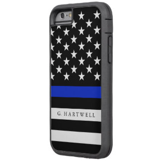 Custom Name Police Flag Tough Xtreme iPhone 6 Case