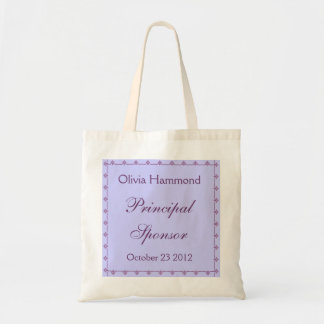 CUSTOM NAME - Principal Sponsor Wedding Bag PURPLE