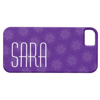 Custom Name Purple Stars G701 iPhone 5 Cases