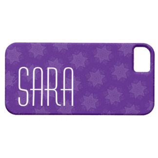 Custom Name Purple Stars G701 iPhone 5 Cover