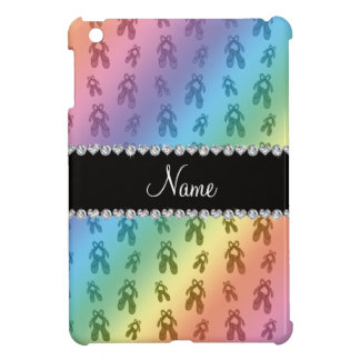 Custom name rainbow ballet shoes case for the iPad mini