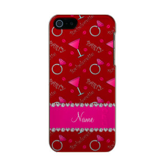 Custom name red bachelorette cocktails rings incipio feather® shine iPhone 5 case