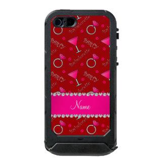 Custom name red bachelorette cocktails rings incipio ATLAS ID™ iPhone 5 case