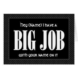 Custom Name RING BEARER Invitation FUNNY D521 Greeting Card