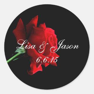 Custom Name Rose Stickers