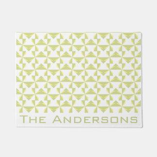Custom Name Sage Pinwheels Doormat