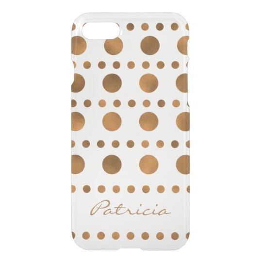 Custom Name Shiny Gold Dots iPhone 8/7 Case