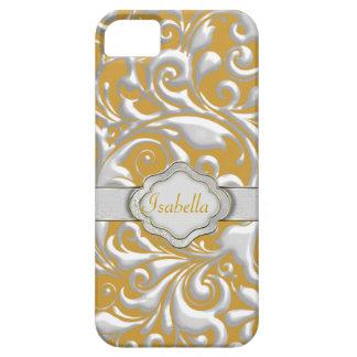 Custom Name SILVER & GOLD DESIGNER IPHONE 5 CASE