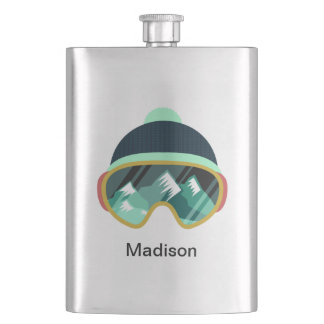 Custom name Ski Mask flask