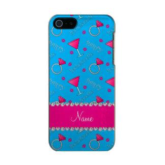 Custom name sky blue bachelorette cocktails rings incipio feather® shine iPhone 5 case
